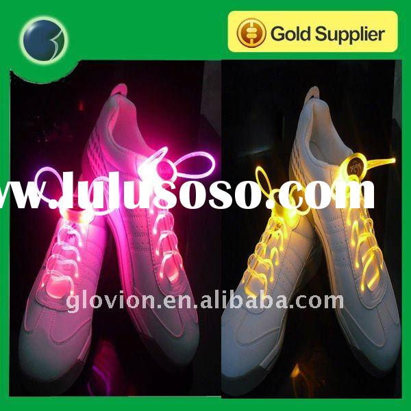 Hot sale super bright led glowing led shoelaces,christmas items for 2012