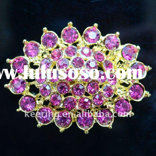 Hot selling wedding brooch with various colours rhinestones
