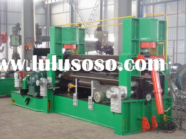 Hydraulic plate rolling machine with 3 rollers