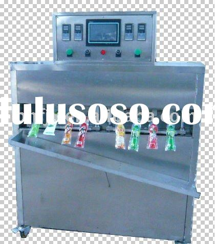Juice pouch filling sealing packing machine