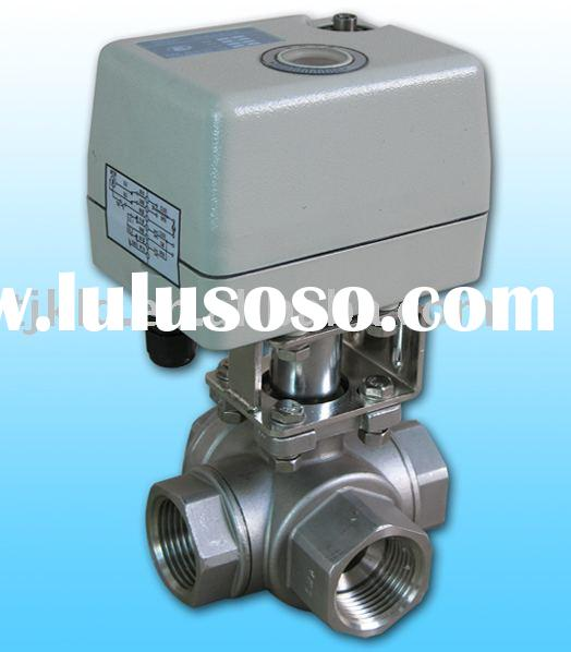 KLD400 3-way actuator Ball Valve(stainless steel) for automatic control,water treatment, process con