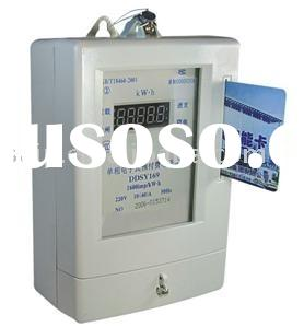 KWH meter,meter,DDSY169 electronic single-phase pre-paid (energy meter ) ,KwH meter,electric meter,m