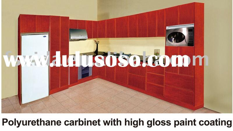 Kitchen cabinet Polyurethane cabinet with high gloss paint coating