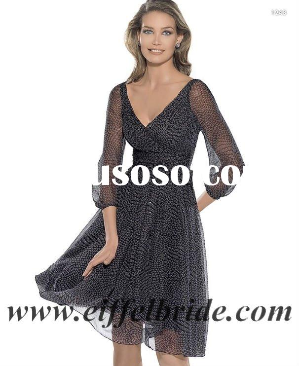 LA-9064 grasp folding the upper body and one layer in the skirt long sleeves evening gown