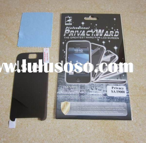 LCD Screen Protector/Film/Guard/Privacy Ward For Galaxy s i9000 Screen Protector