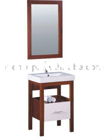 Lacquer colour wood bathroom vanity,rustic bathroom vanities (EC-205)