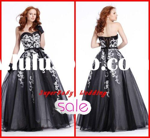 Latest E-2051 strapless ball gown long party fashion prom dress