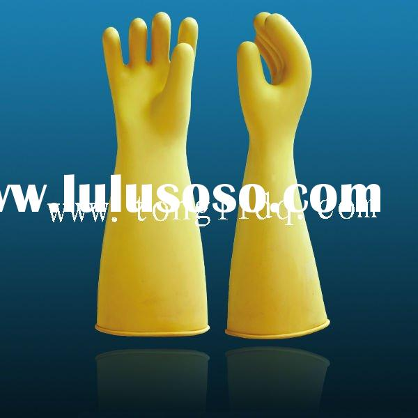 Latex Rubber industrial Insulating Gloves