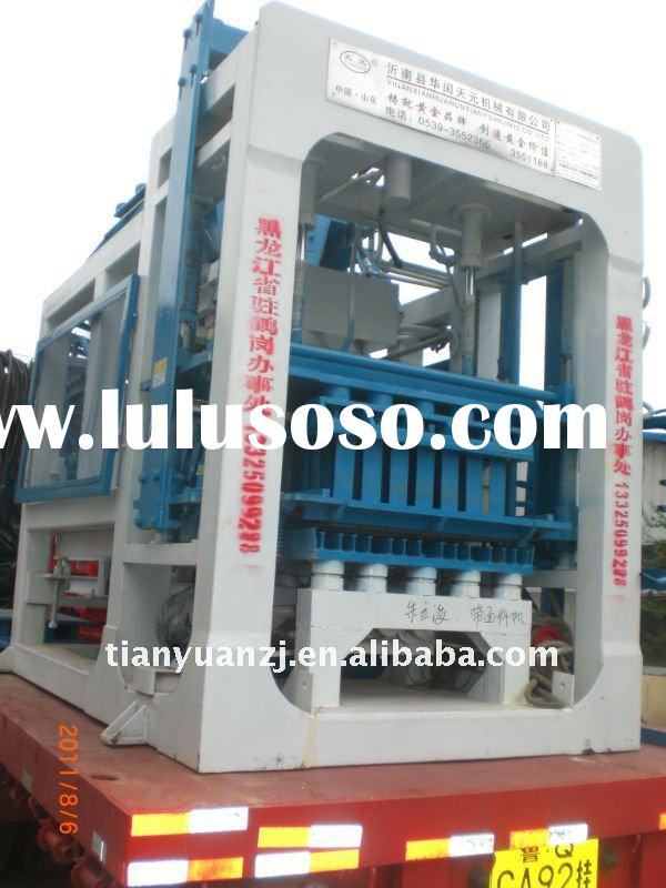 Low cost concrete block making machine / brick moulding machine QTY6-15A