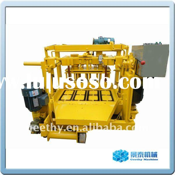 Manual concrete cement block making machine QT40-3A