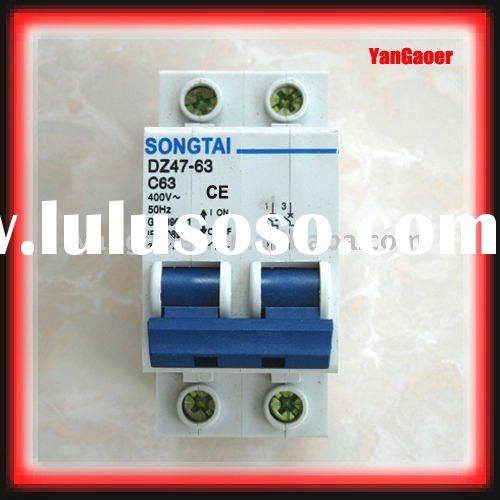 Miniature circuit breaker DZ47-63 C63 2P transparent series