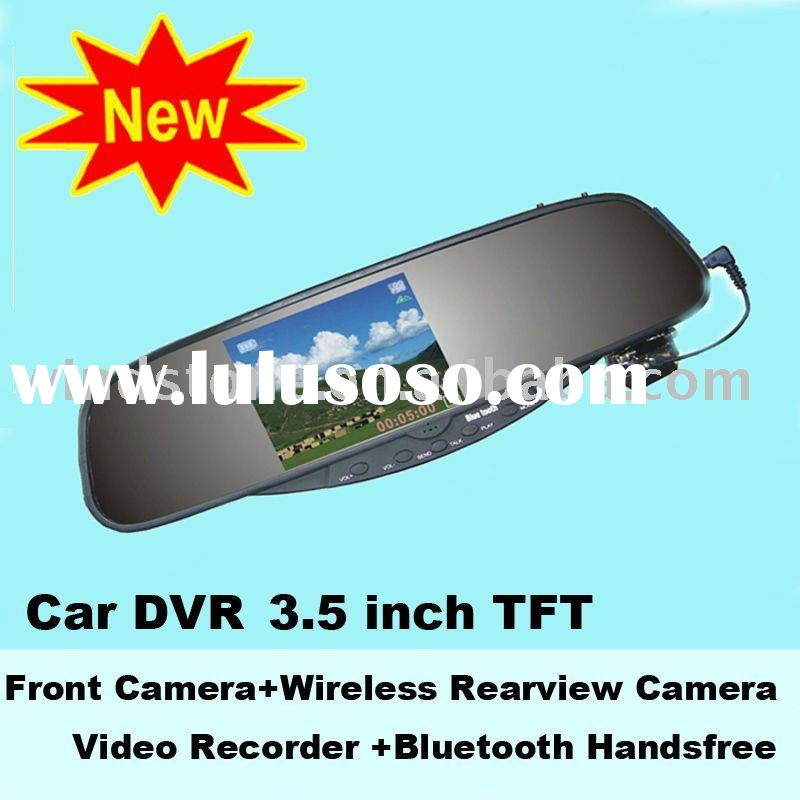 Mobile Car DVR Rearview Mirror with 3.5 inch TFT