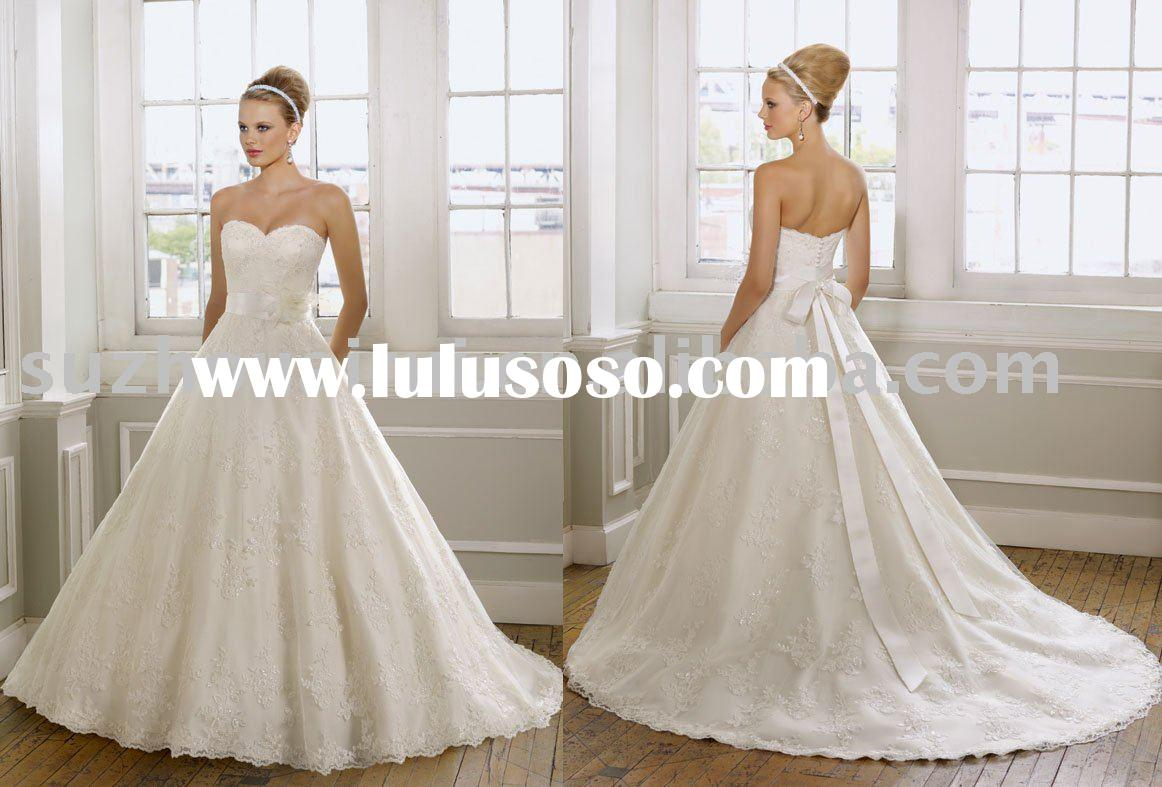 NB373 Elegant Ball Gown Lace Wedding Dresses