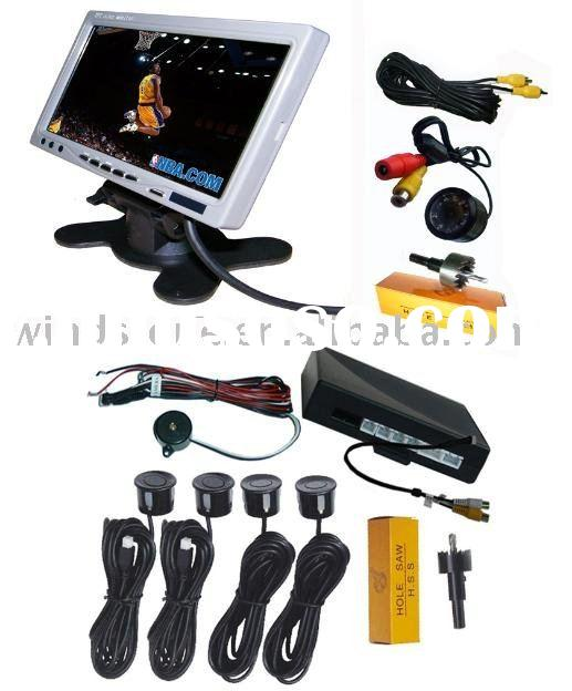 NEW! 7 inch car Headrest TFT-LCD monitor with mirror/Car bluetooth monitor mirror----Factory