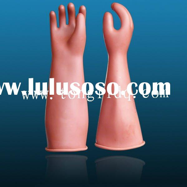 Natural Latex rubber Insulating Gloves