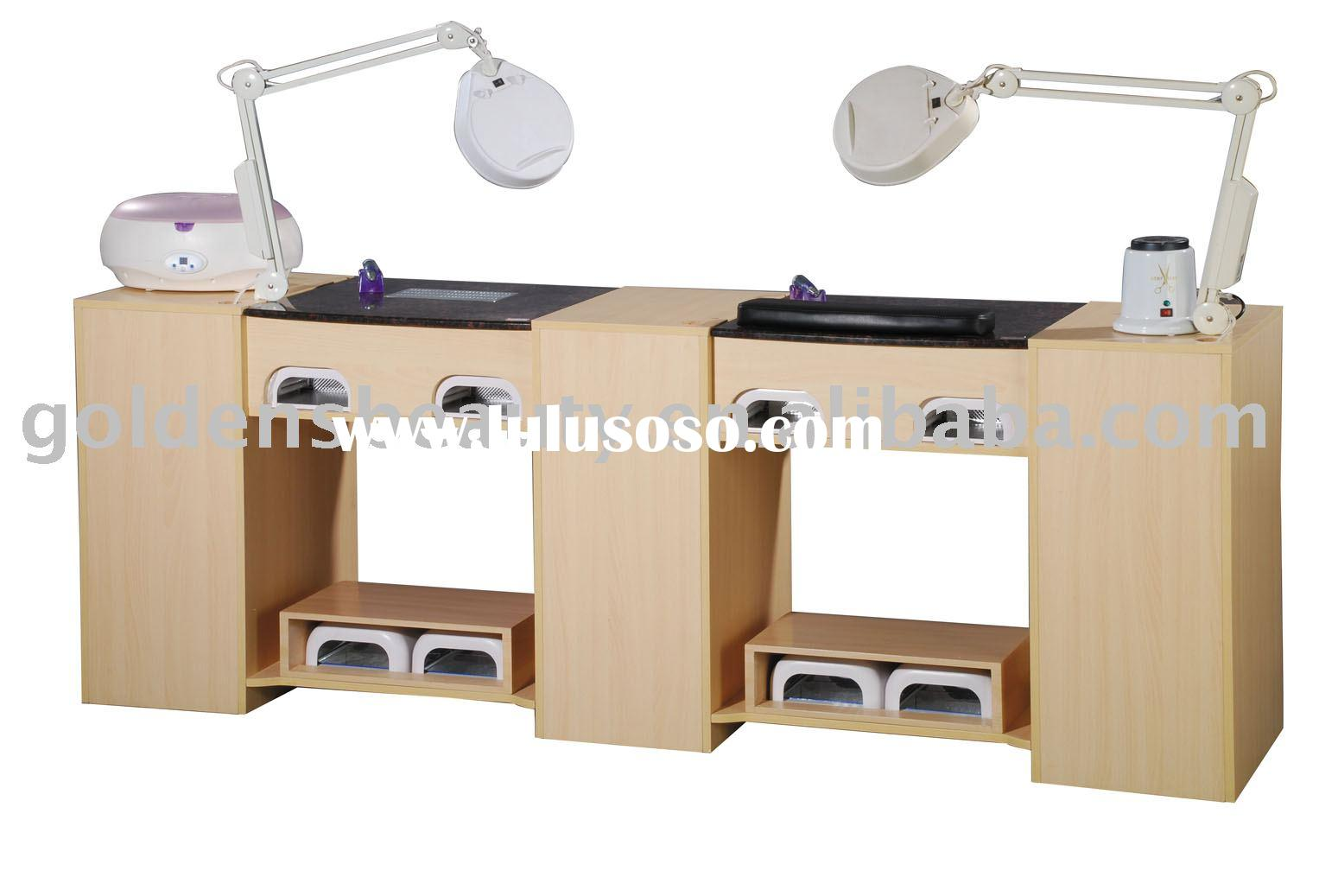 Portable nail manicure table of salon furniture for sale for Beauty salon furniture manicure table
