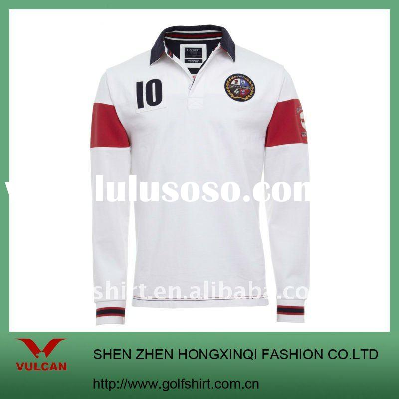 Newest Heavy Cotton Long Sleeve Polo Shirt for Men