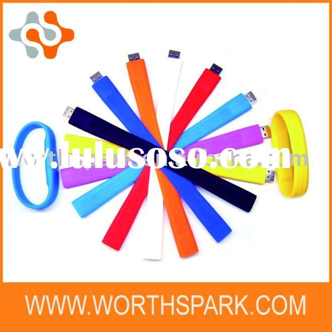 OEM 2GB colorfull silicone bracelet USB flash drive with CE