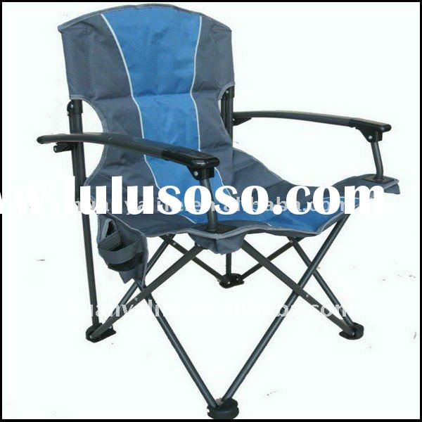 Outdoor deluxe aluminum arm folding camping chair