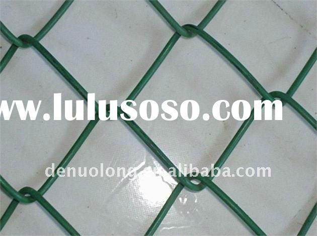 PVC Coated Iron Wire Chain Link Fencing Mesh