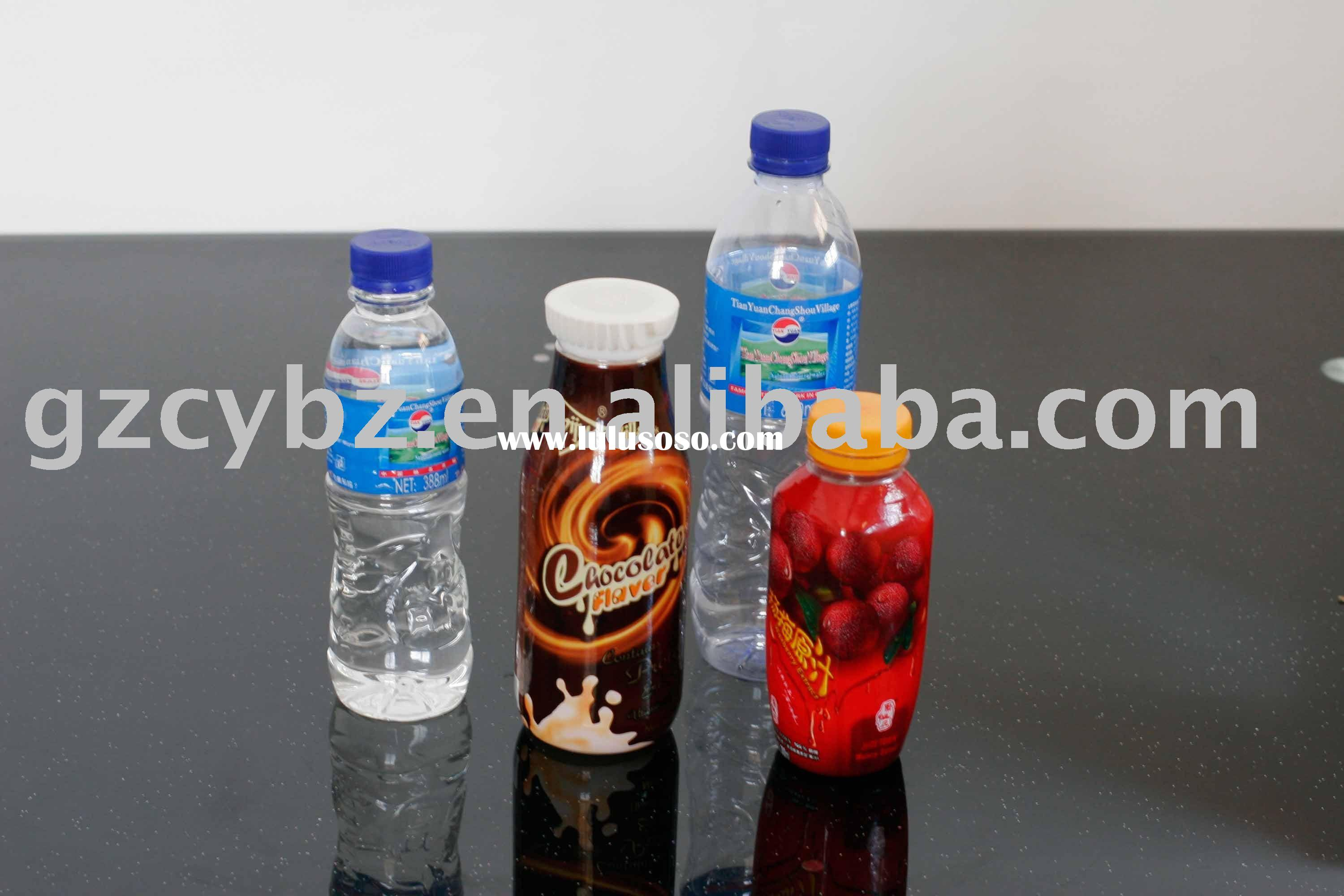 PVC mineral water bottle printing label
