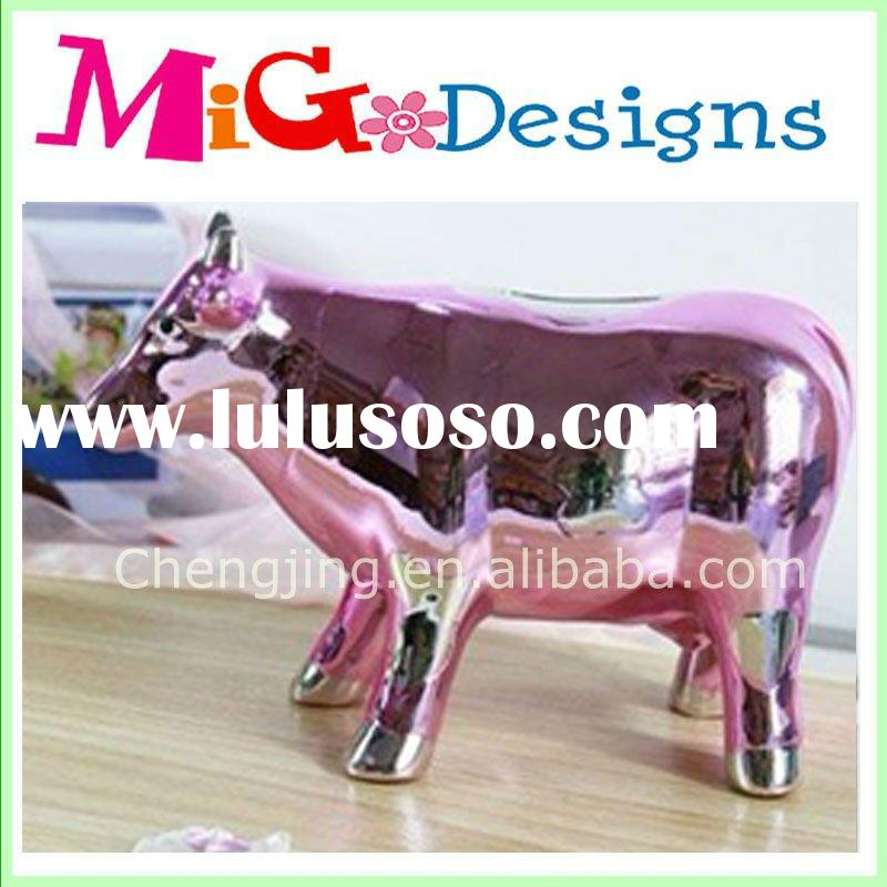 Pink Ceramic Horse Piggy bank,Cow Ceramic Piggy bank & money box gifts