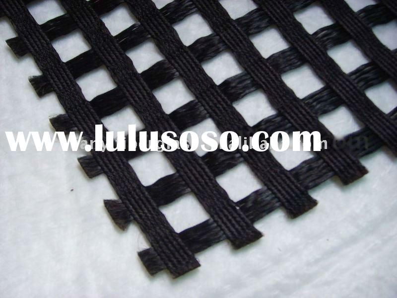 Polyester geogrid&PVC/bitumen/ layer coated