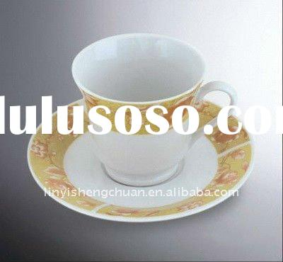 Porcelain Coffee Cup & Saucer