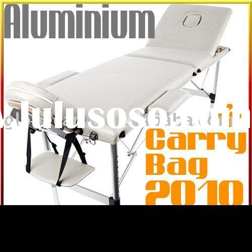 Portable Aluminium Massage Table Chair 3 Fold----- white