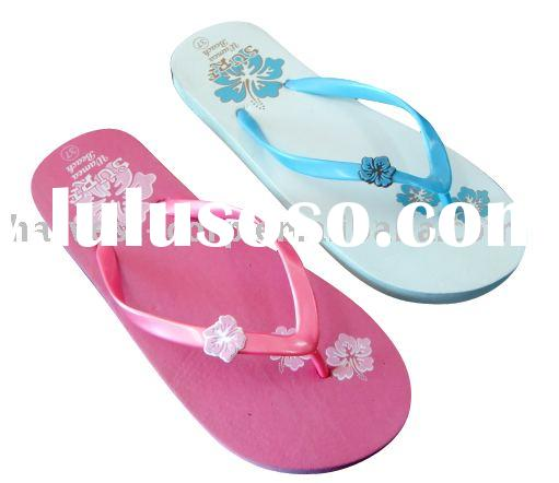 Pretty style fashion women Pink rubber slippers sandals