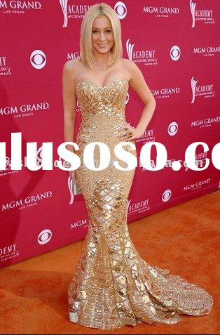 RCP051 Gorgeous fully sequins mermaid celebrities dresses Red carpet prom dresses