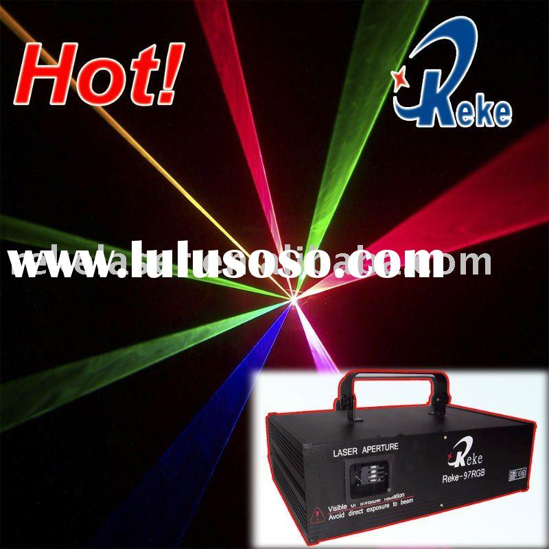 RGB full color laser light show system