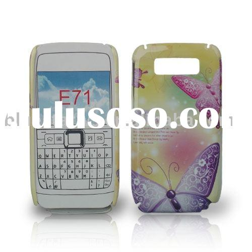Rubberized crystal case with design for Nokia E71