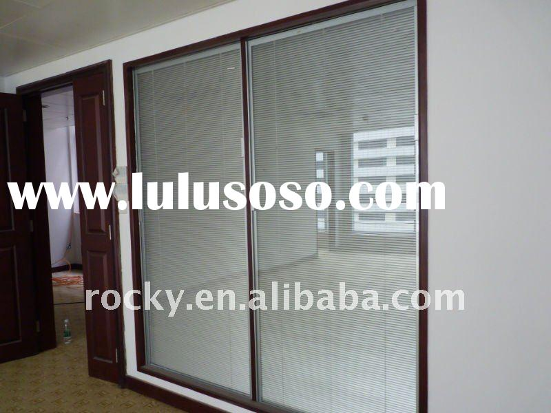 Sliding Glass Door with Mini Blinds