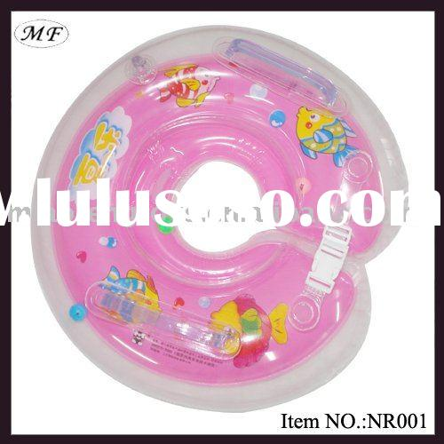 Safe PVC Inflatable baby swimming neck Ring