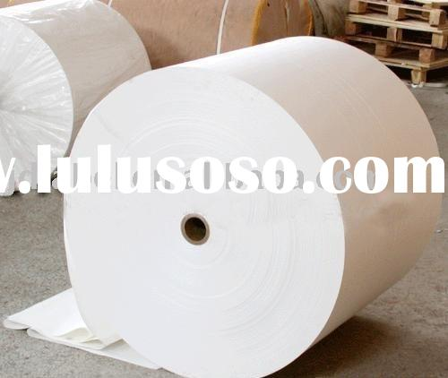 Semi gloss coated self adhesive paper