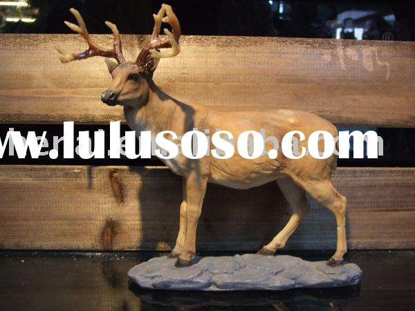 Simulation deer ornaments of resin gift HN-E014B