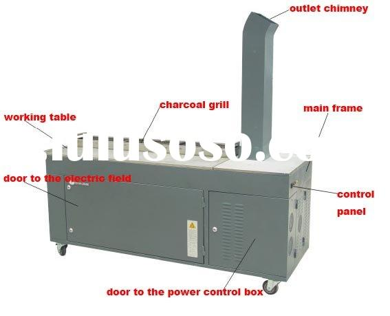Smokeless Barbecue Equipment with ESP (Electrostatic Precipitator) Smoke Elimination Filters