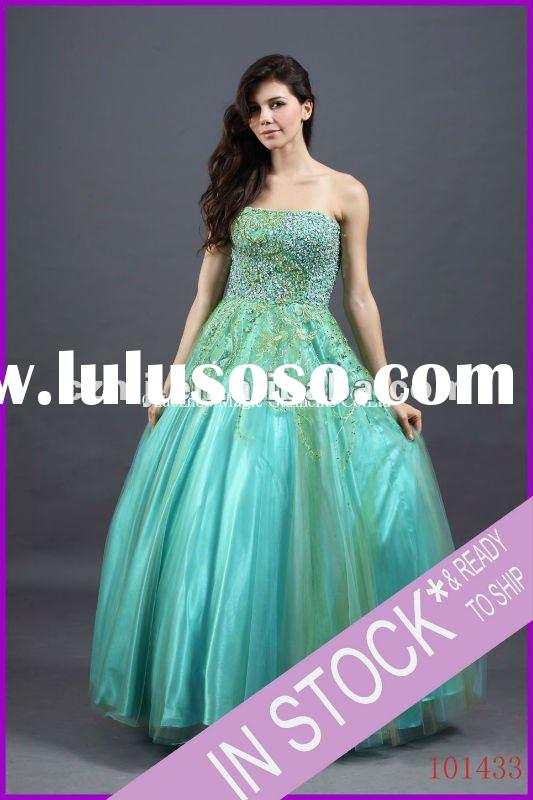 Spring 2012 new arrival beaded strapless ball gown prom dress