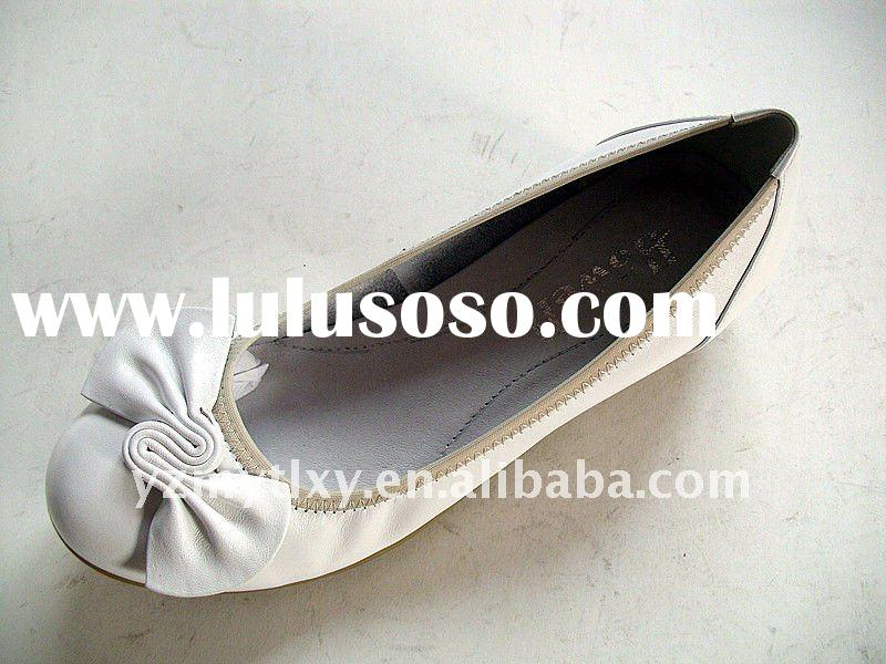 Spring ladies 2012 fashion flat casual leather shoes