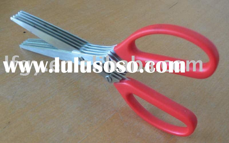 Stainless steel Chopped green onion scissors with 5 blades