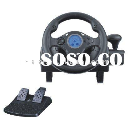 Steering wheel for PC--Rubber textured handles for maximum comfort