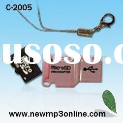 Super thin Usb Card Reader Adapter Micro SD Card Reader Promotion Gift