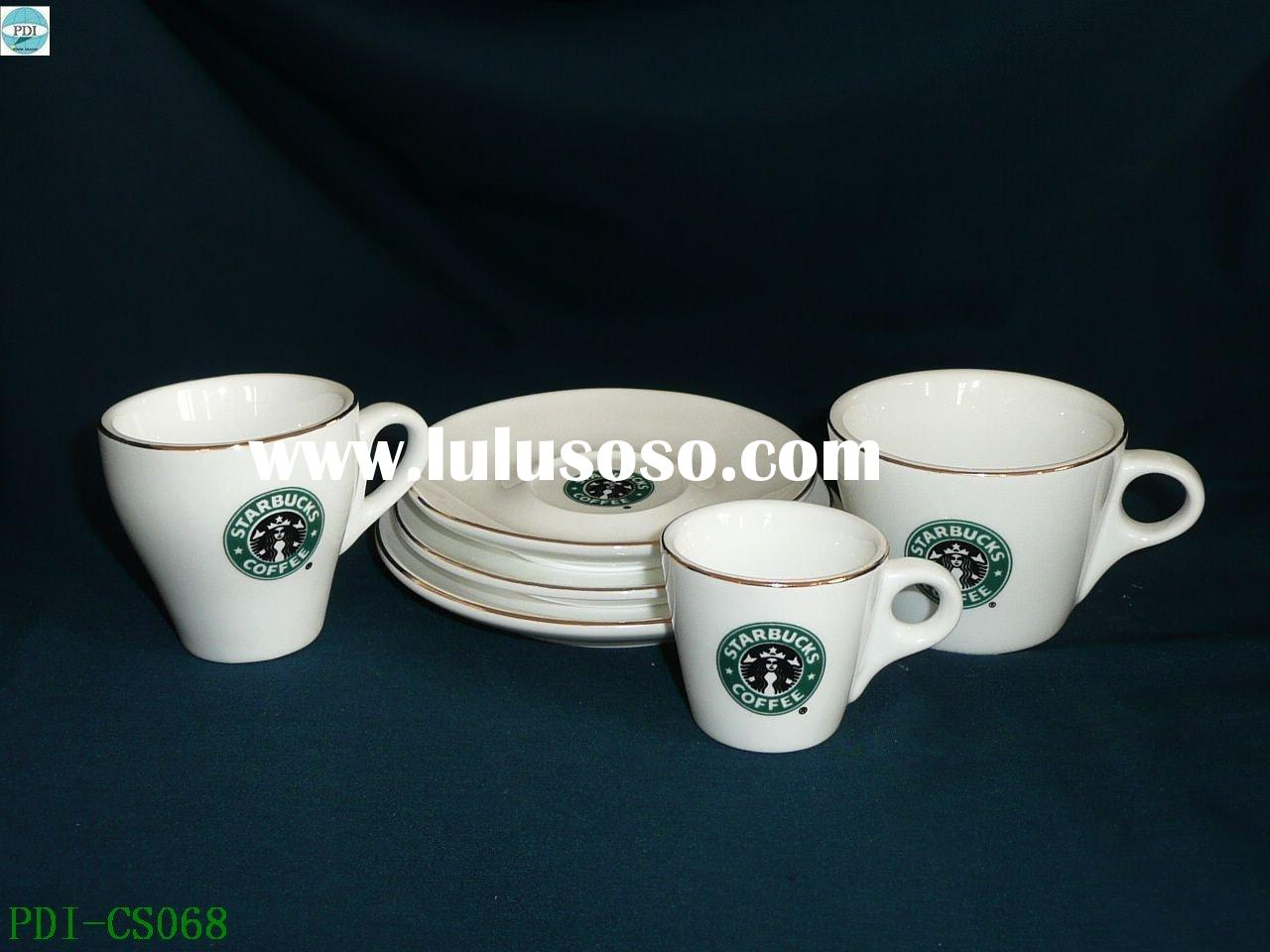 Super white porcelain coffee cup