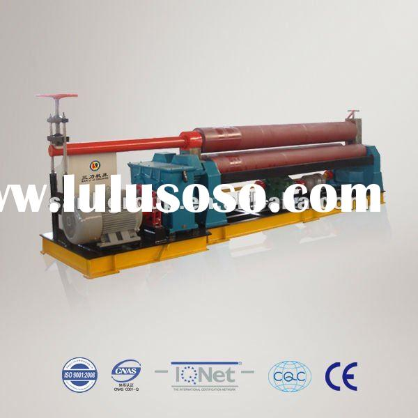 Symmetric plate rolling machine with 3 rollers