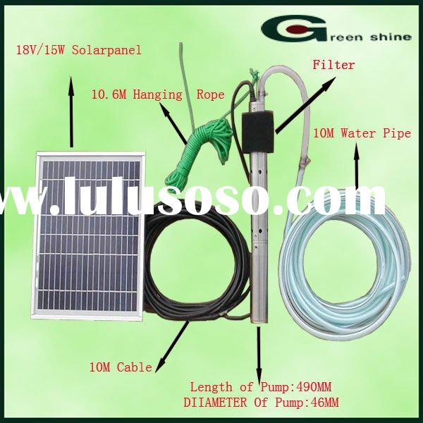 The Head10M Solar water fountain pump for Install residential area or hotel restaurant