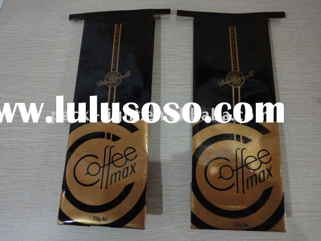 Tin tie coffee bag with side gusset