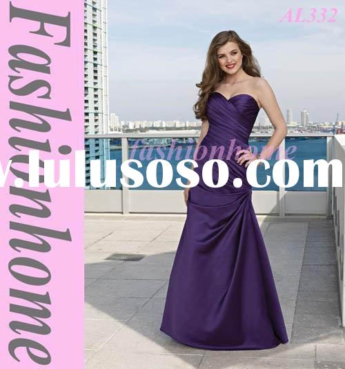Top quality Dark purple Formal lady gown, Taffeta Lady evening dress, Strapless women long gown AL33