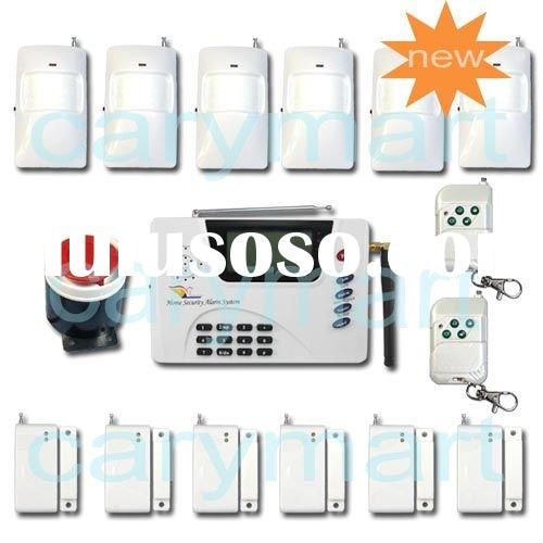 Tri Band 900/1800/1900Mhz LCD Dual Network Auto-dial PSTN SMS GSM Wireless Home Alarm System/ GSM Se