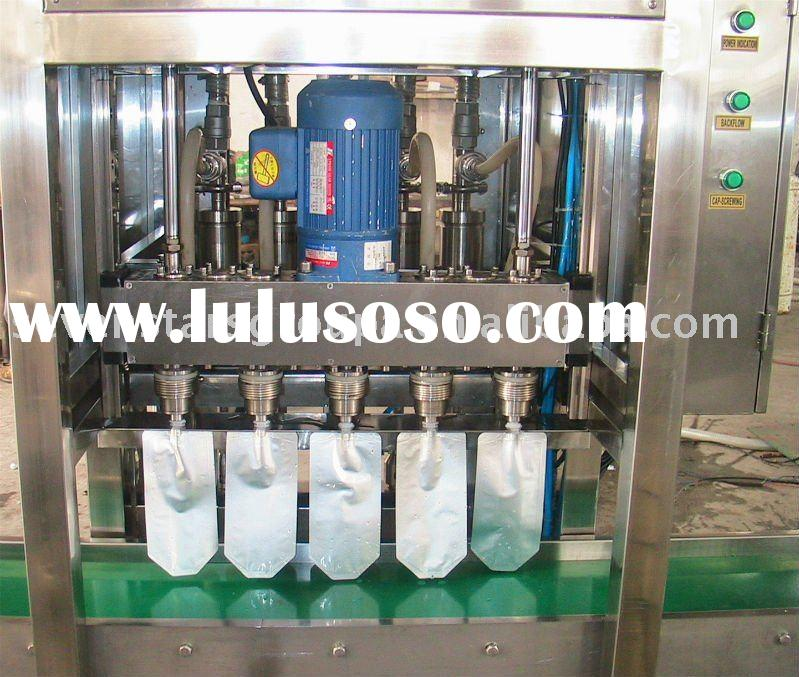Vertical fruit juice bag filling packing machine